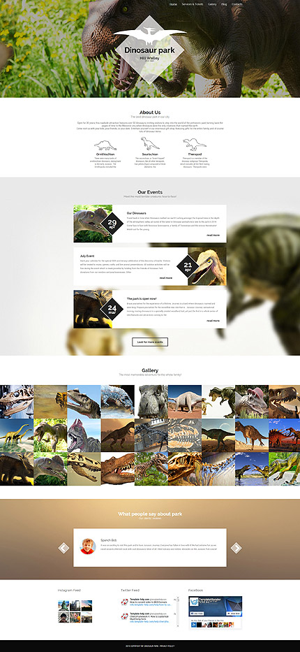 Template 55806 - Dinosaur Park Responsive WordPress Theme