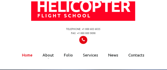 Navigation forTemplate 53326 - Helicopter Flight School Responsive Website Template