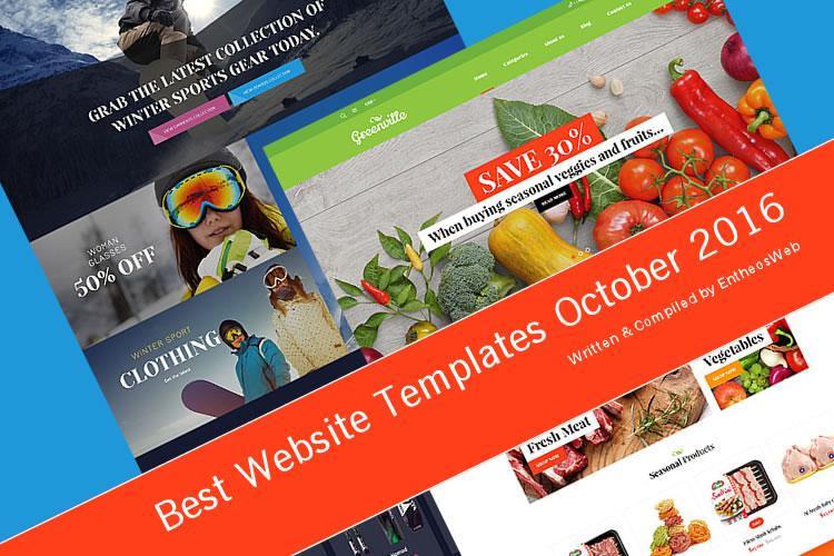 Best Website Templates October 2016