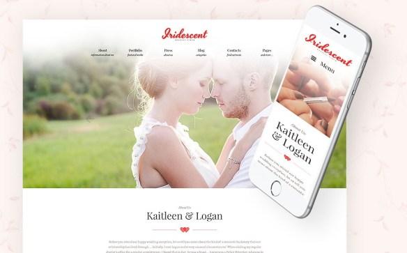 Iridescent - Marriage & Wedding WordPress Theme