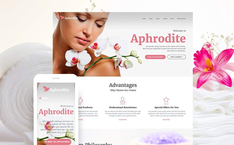 Aphrodite - Beauty & SPA Salon Responsive WordPress Theme