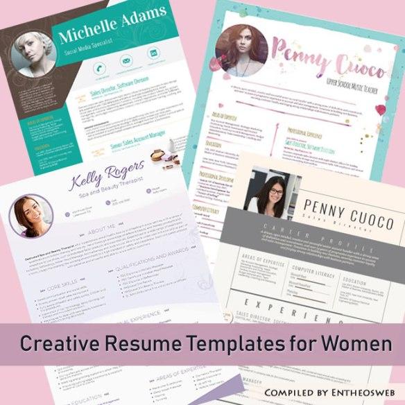 Creative Resume Templates for Women