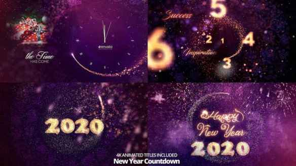 Special New Year Countdown 2020 - Shimmering Gold Countdown