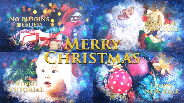 Merry Christmas Slideshow Video Animation / Holiday Greetings / Winter Memories Album / New Year Titles
