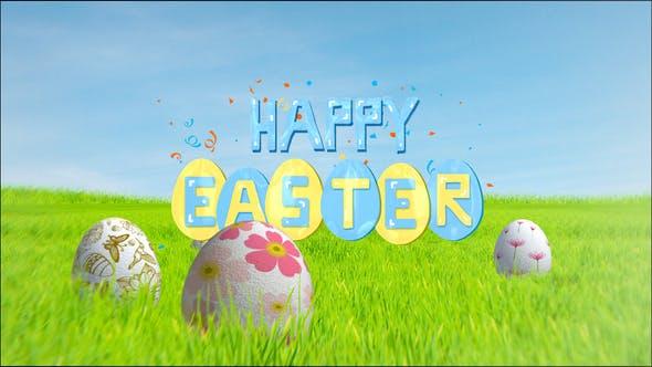 Happy Easter Video Template Opener