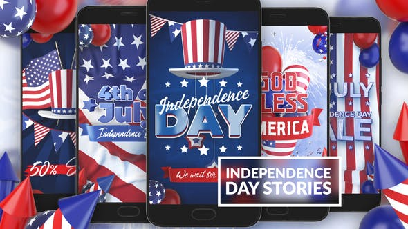 4th Of July Instagram Stories - AfterEffects Video Templates