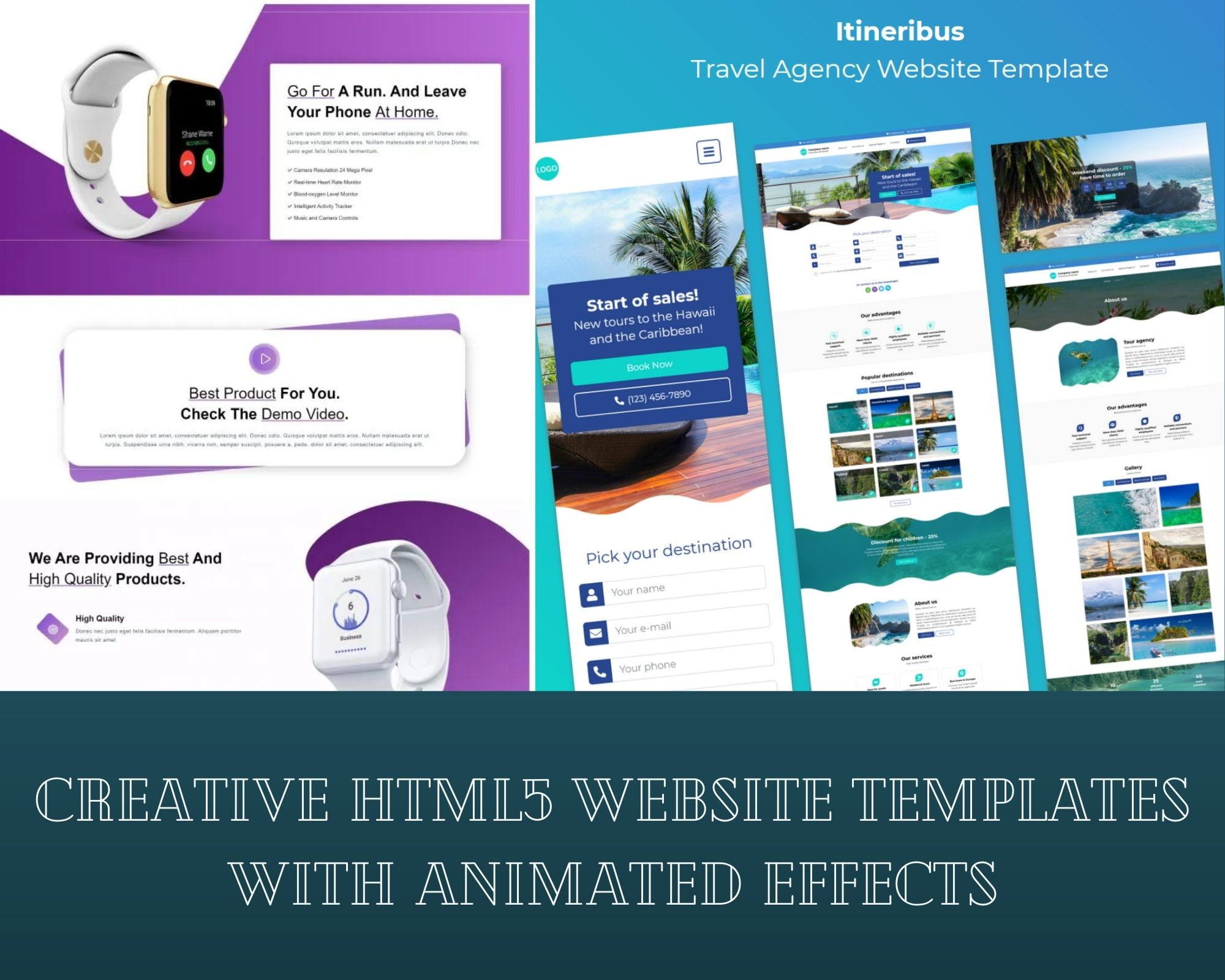 Creative HTML5 Website Templates With Animated Effects