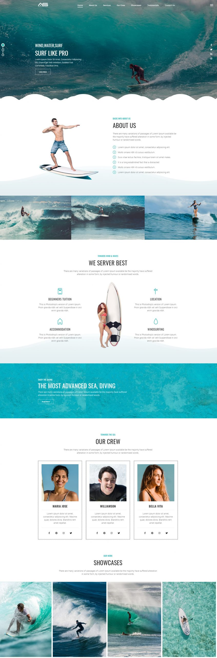 Abusayed | Surfing HTML5 Landing Page Template