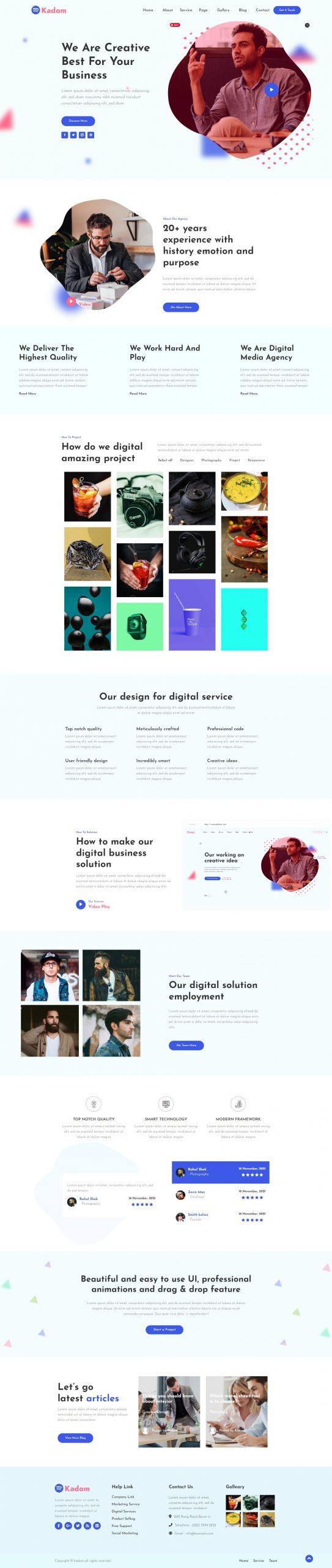 Kadom - Creative Responsive WordPress Theme
