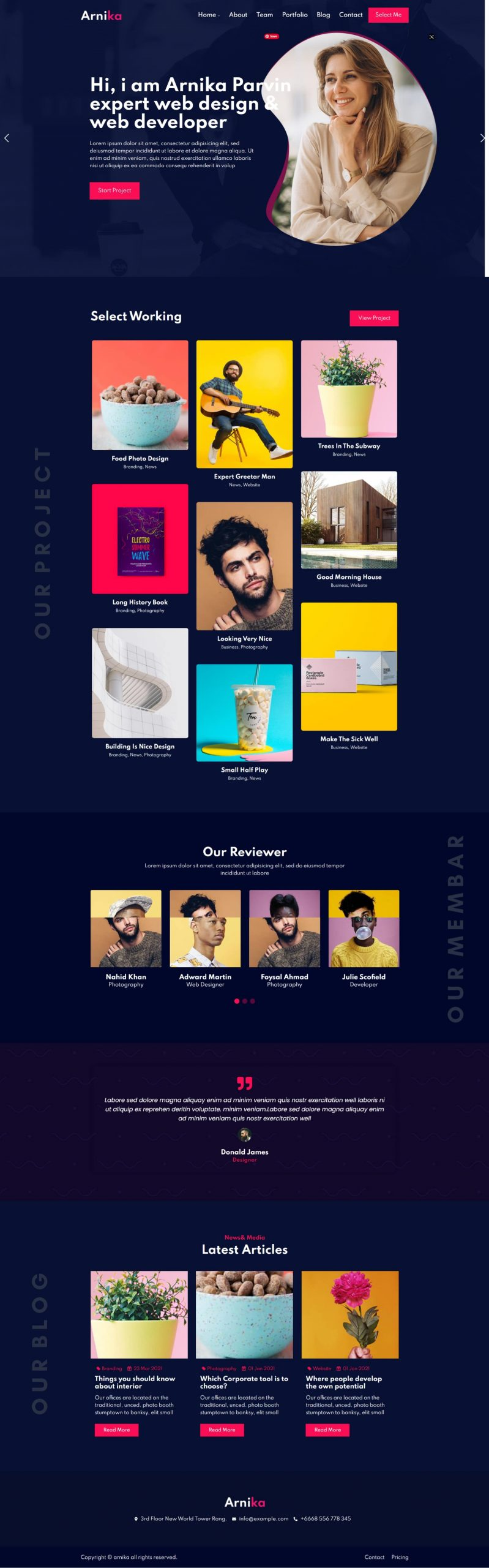 Arnika Personal Creative Responsive WordPress Theme