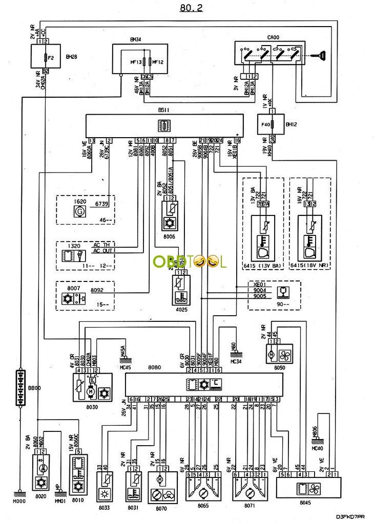 peugeot 406 bsi wiring diagram
