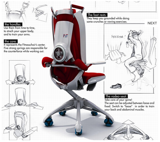 Office Chair  Workout Station  MyeOffice  Workplace