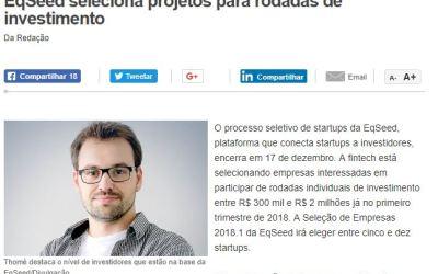 EqSeed seleciona projetos para rodadas de investimento
