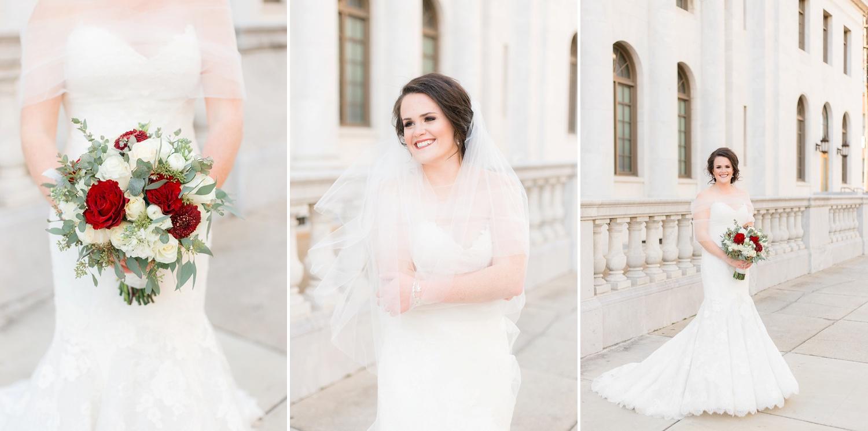 downtown birmingham bridal session