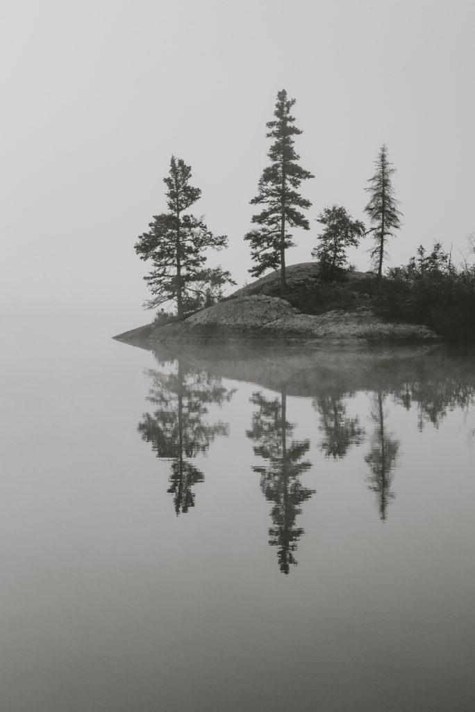 summer vacation lac la ronge morning reflection