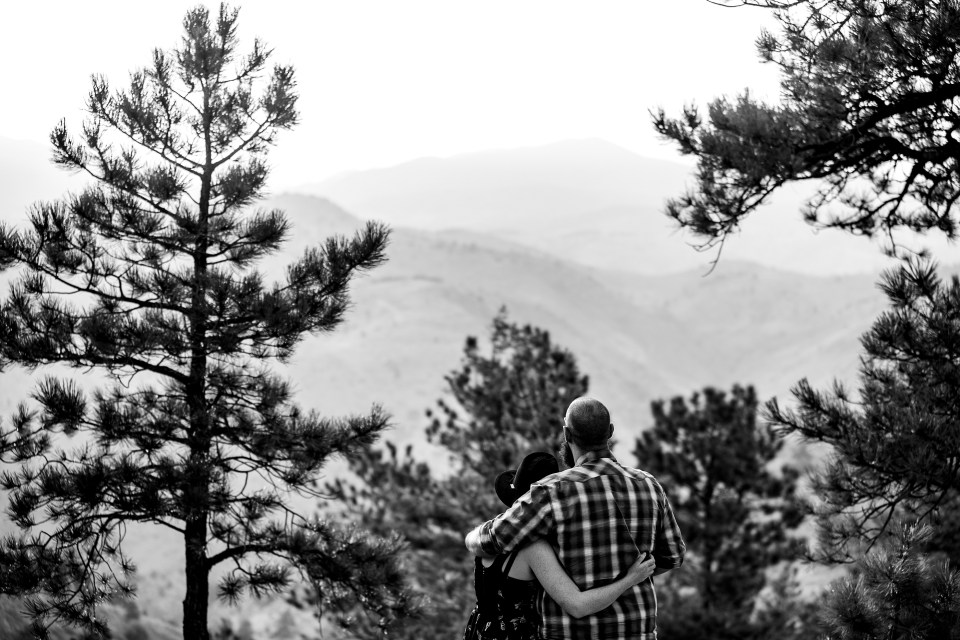 couple looks over the mountains blog post about mental health