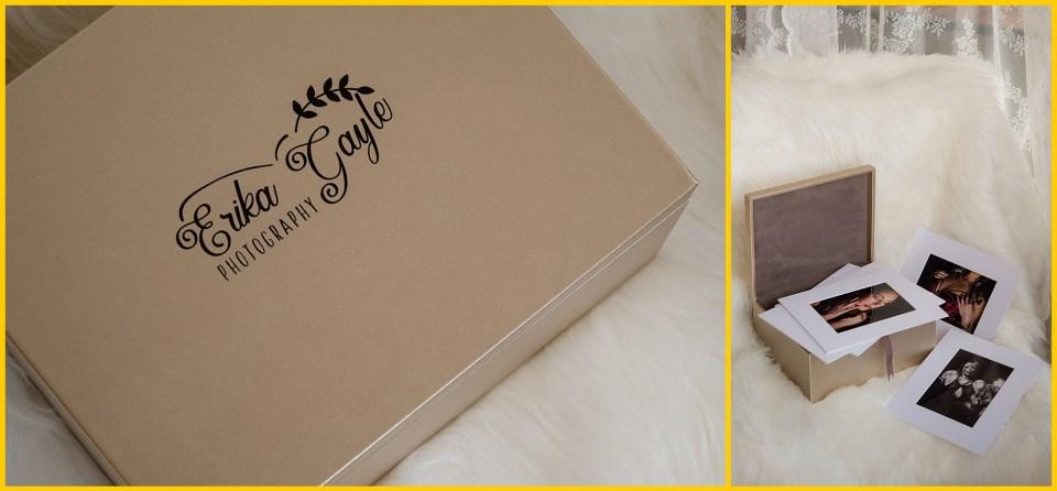 regina area photographer luxury folio boxes