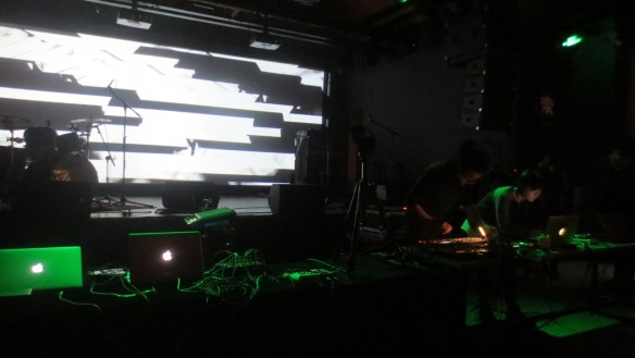 Zafka performing with Sheng Jie, at Pixel Echo 2017 at Yue Space, Beijing, 18 February 2017