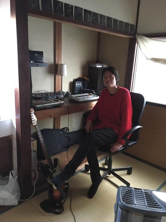 Go Tsushima in his home/studio