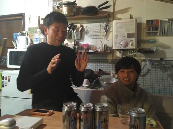 Daisuke Minami, Kazuma Sasajima in conversation at Nice Shop Su