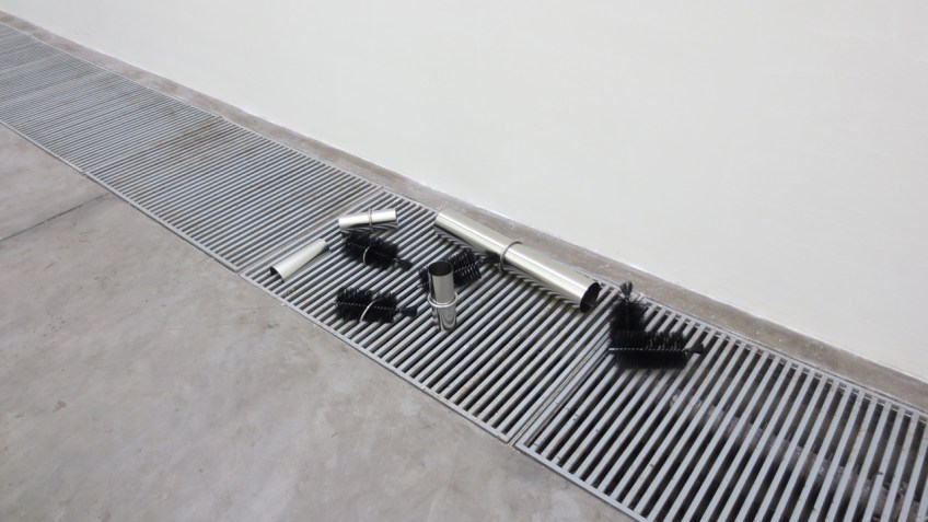 """""""In Case"""" installation view, He Yida 2013"""