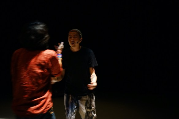 "Zafka and J-Fever, ""Spy Voice"" 2014. Performance at RPM: Sound Art China, Hong Kong"