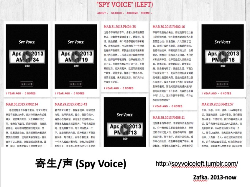 Recordings made with the Spy Voice app, 2013–