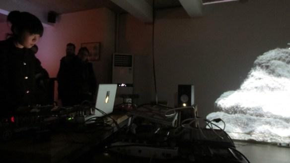 9 January 2016 Sheng Jie performing at Pixels Echo X, at AOTU Studio, Beijing