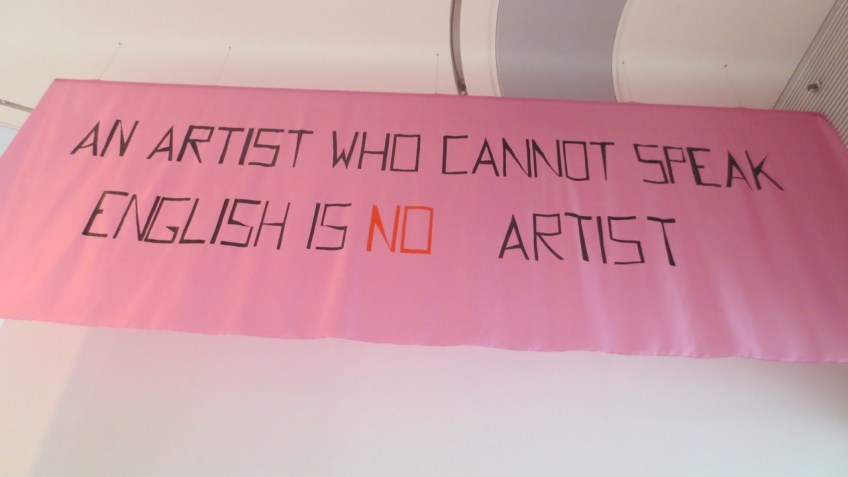 Mladen Stilinovic, An Artist who Cannot Speak English is no Artist, 1992