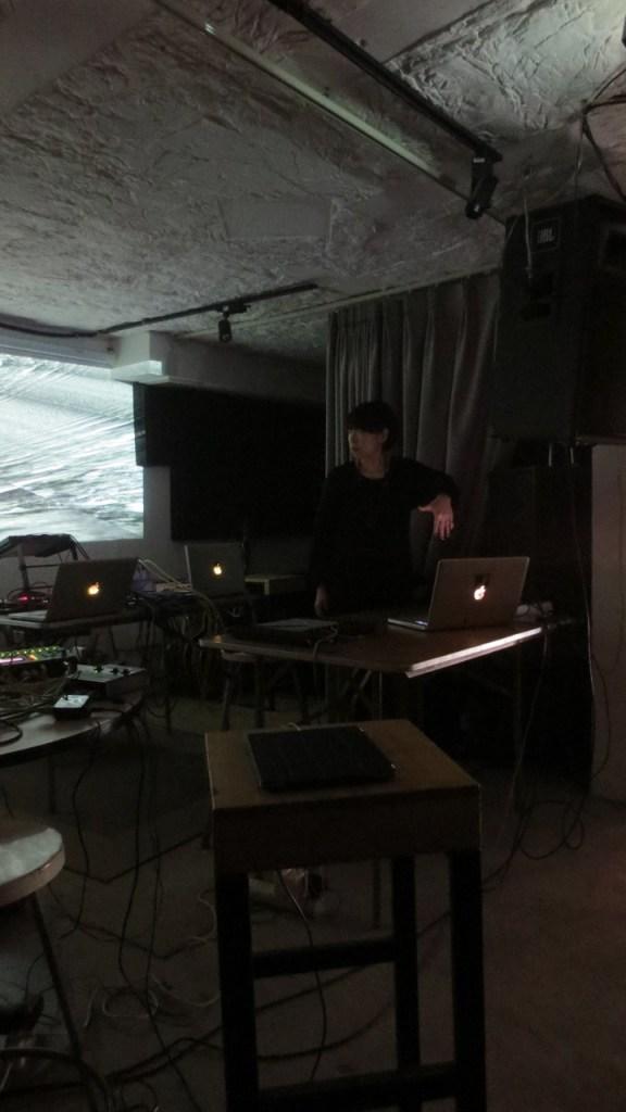 13 November 2016 Sheng Jie performing at Beijing Electronic Music Encounter, at fRUITYSPACE, Beijing