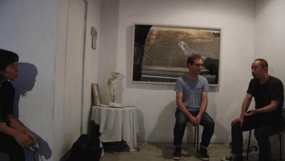 Yan Jun in conversation with Edward Sanderson, at Nooo Kitty, Osaka 17 October 2017