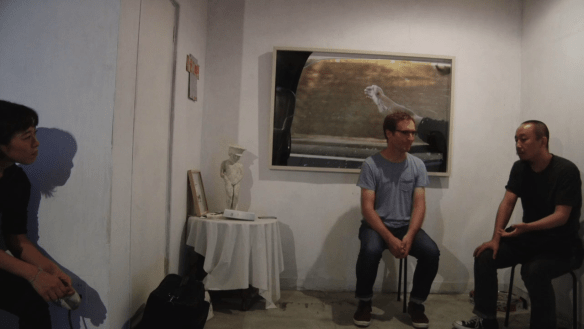 Yan Jun in conversation with Edward Sanderson, at Nooo Kitty, Osaka 17 October 2017