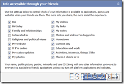 Facebook info accessible through your friends