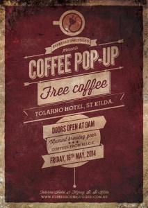 Espresso Unplugged pop-up flyer