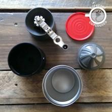 cafflano klassic coffee maker grinder black