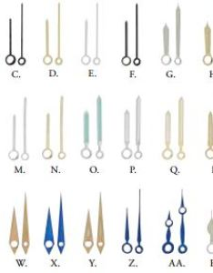 Crown watch hands pairs chart also stem tap mm size reference esslinger rh blogslinger
