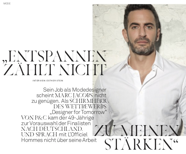 Marc Jacobs Interview
