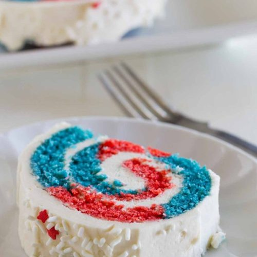 4th of July Cake Roll