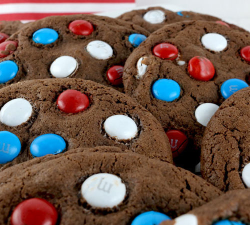 Red, White and Blue Chocolate Cookies