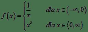 Funkcja z punktem nieciągłości II rodzaju