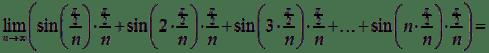 Suma całkowa dla funkcji sinx