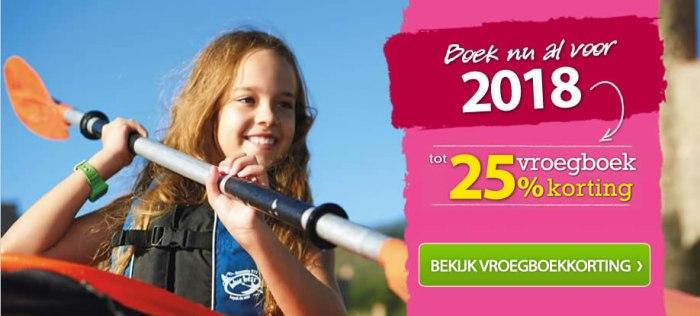 Eurocamp vroegboekkorting 2018