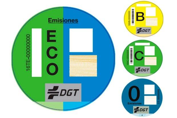 Etiquetas ecologicas para coches
