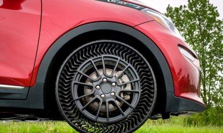 Michelin y General Motors presentan el prototipo de neumático sin aire Uptis