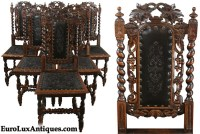 French antique dining chairs | Letters from EuroLux