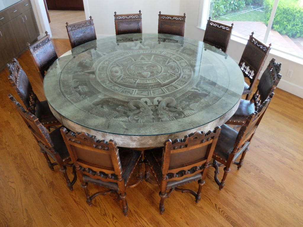 Aztec Chair Client Spotlight Antique Chairs And Aztec Calendar Stone