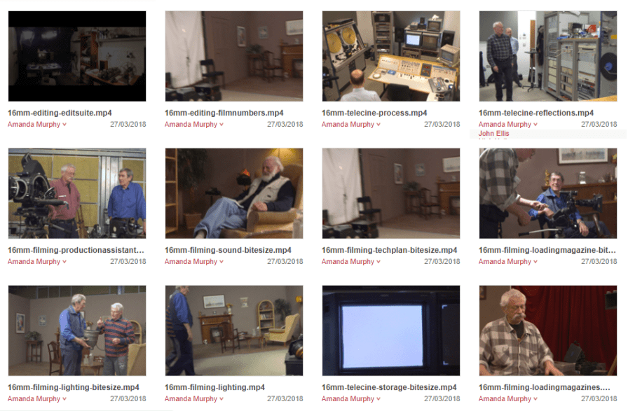 A sample of videos available on Figshare repository.