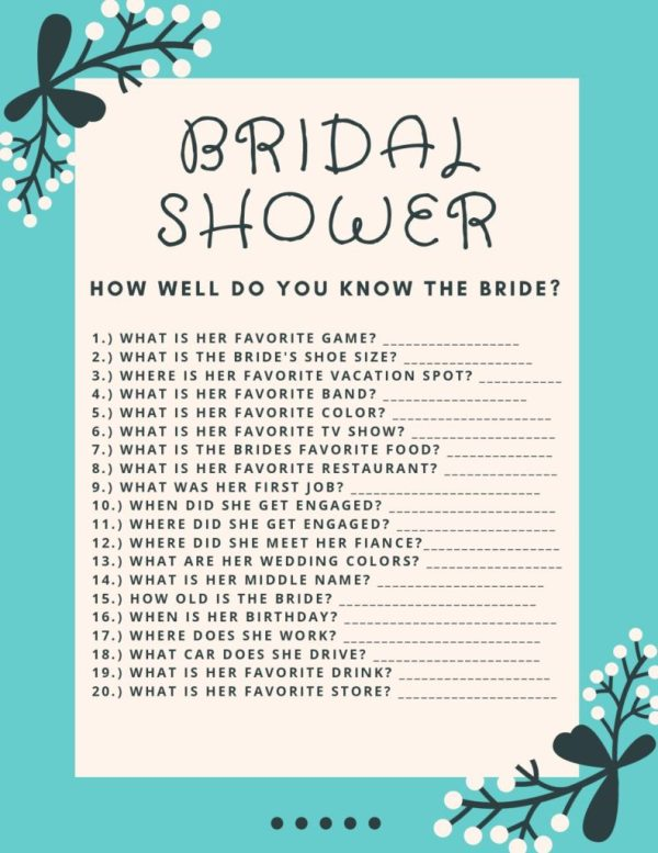 Bridal shower download