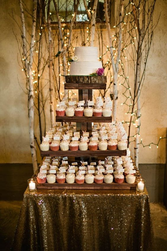 Rustic Wedding Cakes and cupcakes for your fall wedding.