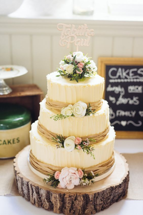 Rustic Wedding Cakes For Your Fall
